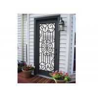 Professional Wrought Iron And Glass Entry Doors For Building Sound Insulation Manufactures