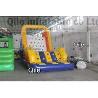 Large-Scale Inflatable Rock Climbing Wall With Slde And Pool For Entertainment Manufactures
