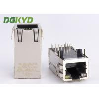 33mm Right Angle Tab-Up POE RJ45 Shielded Connector with transformer GO/Y LED OEM Manufactures