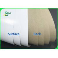China Good Stiffness 140gsm 170gsm Coated White Top & Uncoated Liner Paper For Cartons on sale