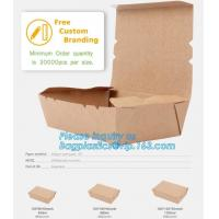 China Wholesales custom rectangle die cut packaging lunch food kraft paper corrugated mailer box,Takeout Food Packaging Kraft on sale