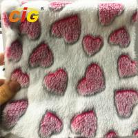 China 100% Polyester Heart Printed Coral Fleece for Blanket Bed Sheet Home Textile on sale
