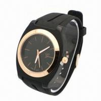 Sports Watch with Unisex Rubber Strap and Plastc Ase, Alloy Bezel, Japan Movement Manufactures