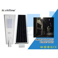 China Phone Control Integrated Solar Street Light With Solar Panel , Bridgelux LED Chips on sale