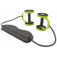 Buy cheap Stomach Workout Double AB Roller Wheel With Handle TPR Foot Straps from wholesalers