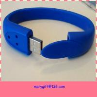 best selling usb silicone wristband with flash memory Manufactures