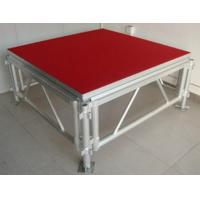 Red Plywood Movable Stage Platform Simple Stage , Corrosion Resistance Manufactures