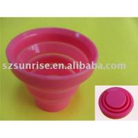 Multi-function foldable silicone  cup