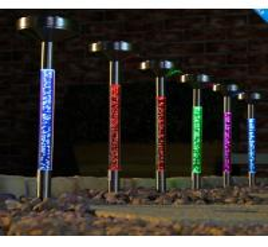 Solar sparkling bubble Tube light for garden yard decoration Manufactures