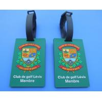 Personalized Club De Golf Levis Member 3D Soft PVC Travel Hang Bag Tags / Name Card Tags For Club Big Event