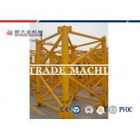 ISO / CE Approved 8T Self Erecting Tower Crane QTZ Series Hydraulic Tower Crane For Construction Manufactures