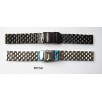 Rose, Gold, Black Plated Ladies / Mens Stainless Steel Watch Straps Bands With Butterfly Buckle Manufactures