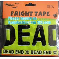 Rolls Halloween Caution Party Tape,Party halloween banner , plastic streamer caution party tape, fright tape bagease