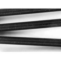 Quality 8.8 Grade Metric Carbon Steel Threaded Rod Black Color High Strength for sale