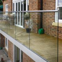 Modern aluminum U base channel glass balustrade systems for balcony Manufactures