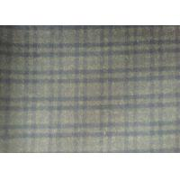 Lovely Plaid Wool Fabric Grey , 720g/m Lightweight Tartan Fabric plaid style Manufactures
