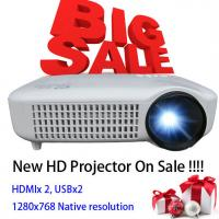 Quality Newest 2015 White Color Video LCD Home Theater Projector With HDMI USB Proyector Beamer for sale