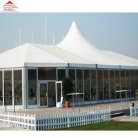 Custom High Peak Tension Tents For Exhibition With Flame Retardant PVC Coated Manufactures