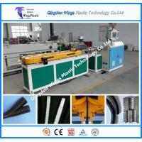 Plastic Single Wall Corrugated Pipe Extruder Machine Plastic Corrugated Tube Production Line Manufactures