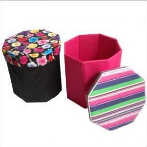 China Non woven storage basket stool on sale