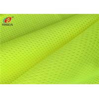 Polyester Fluorescence Mesh Yellow Reflective Fabric Flame Retardant Anti Pilling Manufactures