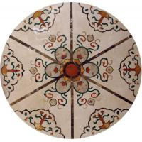 Marble Water Jet Mosaic Tile Medallion Patterns , Inlay Mosaic Tabletop Patterns Manufactures