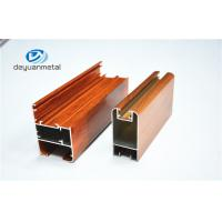 Nature Color Wooden Grain Aluminium Door Frames Alloy 6063 ISO Approval Manufactures