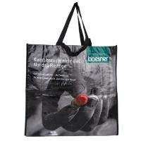 Large Black Pp Woven Fabric Bags Machine Rolling Printing Wear Resistant Manufactures