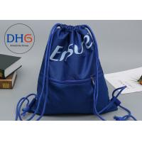 China Small Personalized Drawstring Bag Backpack Custom Logo Easily Packed Mesh Outside on sale