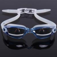 Mirror Coated Lenses Anti Fog Swim Goggles Anti Shatter , Easy Release Head Strap Manufactures