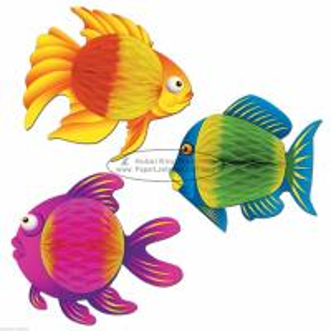 Mulitcolor fish 35cm Kids Paper Lanterns children home party decoration baby shower Manufactures
