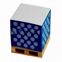 Notepad Cube, Wood-free Paper, 4-side Colored Printing with Sticky, OEM Orders Welcomed Manufactures