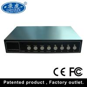 Analog Video Signal CCTV Color Quad Processor Real Time Recording High Performance