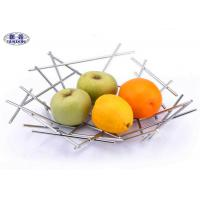 China Irregularly Welded Modern Stainless Steel Fruit Bowl Kitchen Accessories on sale
