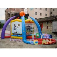5 - In - 1 Colored Inflatable Kids Games / Inflatable Volleyball Court For Partys Manufactures
