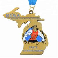 Award Custom Running Medals Hollow Out Marathon Running Type 0.8-5mm Thickness Manufactures