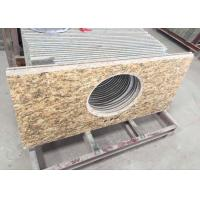Polished Granite Vanity Countertops / Granite Slab Countertop With Sink Hole Manufactures