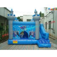 China Frozen Inflatable Bounce Houses , Inflatable Frozen Mini Bouncer Slide on sale