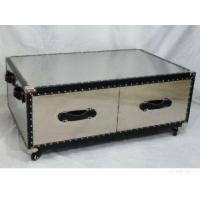 Stainless Steel Coffee Table With Drawers