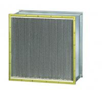 China Industrial Air Filter System , Pleated Hepa Filter With Double Header Cell Sides on sale
