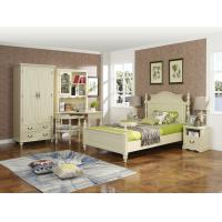 Rubber Wood made Kids/Children/Single white bedroom 1.2/1.4M small bed Space saving furniture with Study table/bookcase Manufactures