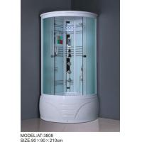 900mm quadrant shower enclosure white painted chrome Color with top light Manufactures