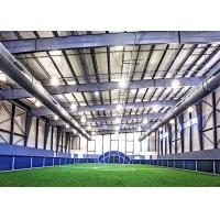 China Single Slope Clear Span Prefab Steel Workshop Sports Complex With A Partial Mezzanine on sale