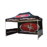 Outdoor Portable Trade Show Canopy Tent Black Coated Iron Frame For Businss Promotion Manufactures