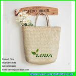 LUDA cheap promotional natural palm leaft straw handbag Manufactures
