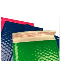China Strong Glue Plastic Bubble Mailers Shinny Surface Easy For Writing / Printing on sale