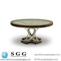 Excellence quality tempering rounded Dining Table glass top Manufactures