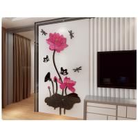 Removable 3D Crystal Acrylic Flower   DIY Wall Sticker Decal Home Decor Manufactures