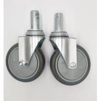China Carts 5 Inch Caster Wheels , Shelf Metal Food Service Equipment Casters on sale