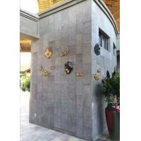 China Exterior Wall Polished Granite Tiles High Gloss Grey Color Uniform Structure on sale